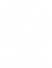 White Go Texan Logo